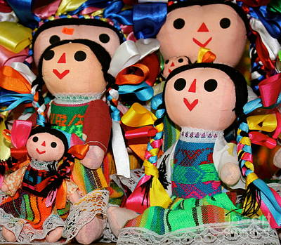 Photograph - Mexican Dolls by The Art of Alice Terrill