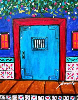Painting - Mexican Door Painting by Pristine Cartera Turkus