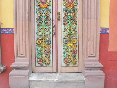 Mexican Doorway 3 Art Print by Francine Gourguechon