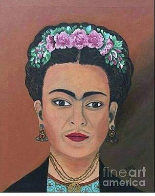 Painting - Mexican Frida by Iris  Mora