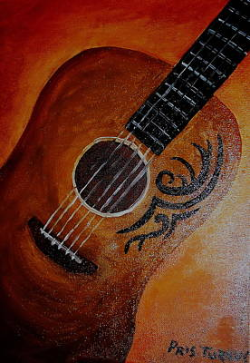 Painting - Mexican Guitar by Pristine Cartera Turkus