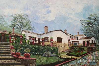 Mexican Hacienda After The Rain Art Print