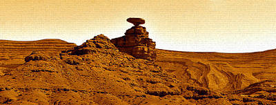 Photograph - Mexican Hat Rock Panoramic by David Lee Thompson