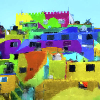 Digital Art - Mexican Homes by Gary Grayson