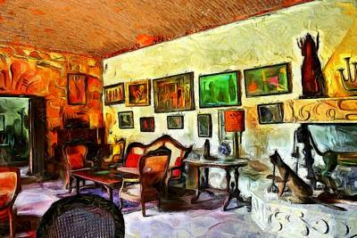 Impressionism Digital Art - Mexican Interior by Jean-Marc Lacombe