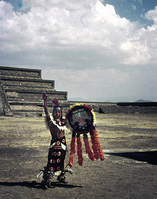 Photograph - Mexican Mesoamerican Dancer Vintage by Marilyn Hunt