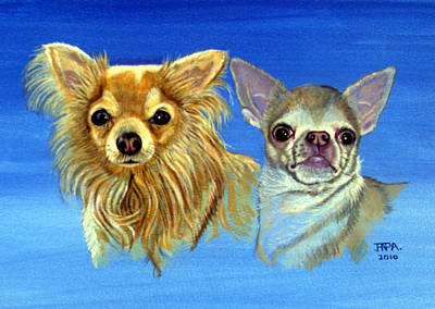 Short Hair Chihuahua Painting - Mexican Mix by James Richardson