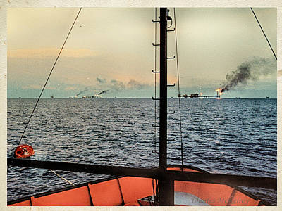 Photograph - Mexican Oil Fields by Charles McKelroy