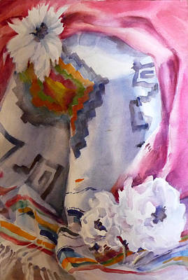 Multi Colored Painting - Mexican Paper Flowers by Joan  Jones
