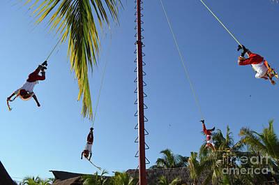 Digital Art - Mexican Pole Climbers by Eva Kaufman