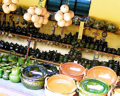 Oaxacan Photograph - Mexican Pottery by Michael Peychich