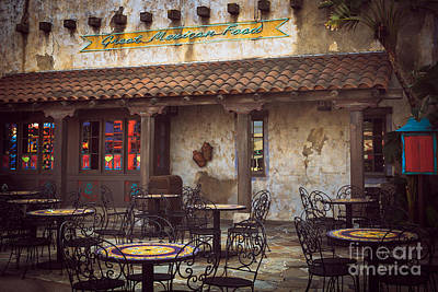 Photograph - Mexican Restaurant by Ray Shiu