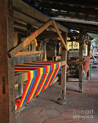 Looms Digital Art - Mexican Rug Looms by Rebecca Snyder