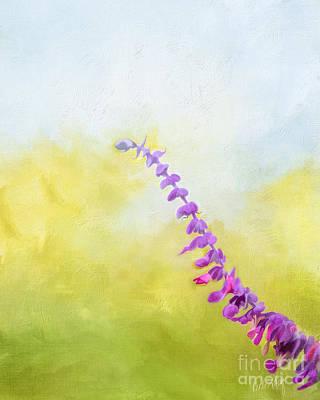 Linda King Digital Art - Mexican Sage 9534 by Linda King