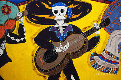 Folk Art Photograph - Mexican Skeleton Folk Art by Bob Christopher