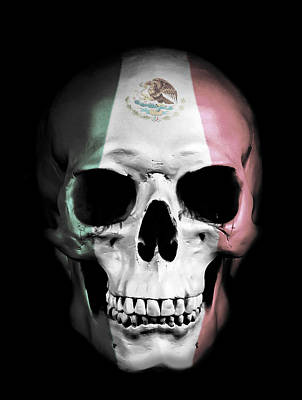 Art Print featuring the digital art Mexican Skull by Nicklas Gustafsson
