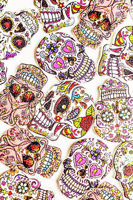 Photograph - Mexican Sugar Skulls by Jorgo Photography - Wall Art Gallery