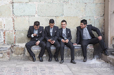 Photograph - Mexican Teens by Jim West
