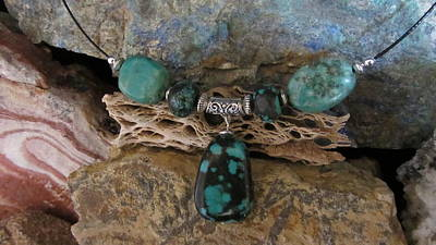 Jewelry - Mexican Turquoise Choker #s36 by Barbara Prestridge