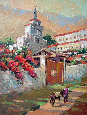 Mexican Village 1 Art Print