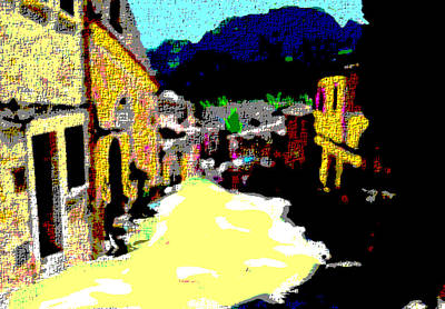 Central America Mixed Media - Mexican Village  by Enki Art