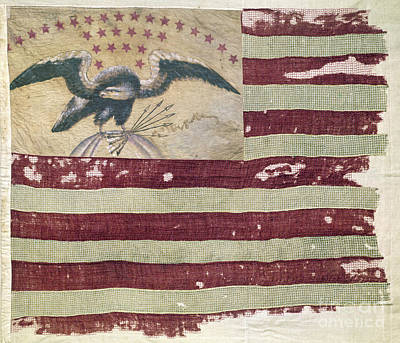 Photograph - Mexican War:  U.s. Flag by Granger