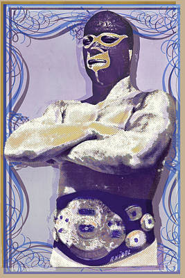Painting - Mexican Wrestler Lucha Libre by Tony Rubino