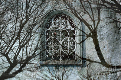 Photograph - Mexico Abstract Surrealism Photography - Arched Window by Sharon Hudson