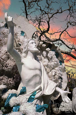 Photograph - Mexico Cemetery Sculpture Photograph - Resurrection T Dawn by Sharon Hudson