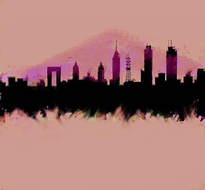 Mexico City Skyline Df  Art Print