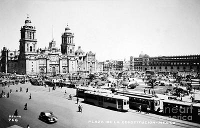 Photograph - Mexico City: Zocalo, C1930 by Granger