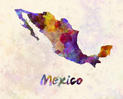 Mexican Decoration Painting - Mexico In Watercolor by Pablo Romero