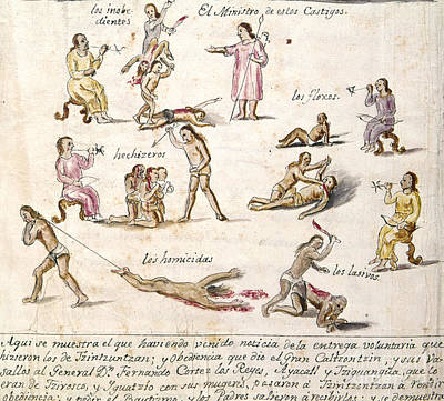 Photograph - Mexico: Indian Punishments by Granger