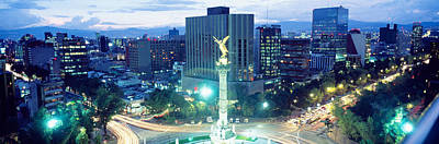 Mexico City Photograph - Mexico, Mexico City, El Angel Monument by Panoramic Images