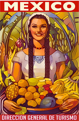 Digital Art - Mexico Poster by Gary Grayson