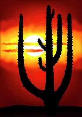 Spiny Digital Art - Mexico Sunset by Michal Boubin