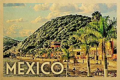 Mexico Travel Poster - Vintage Travel Art Print by Flo Karp