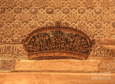 Historic Doors Photograph - Mexuar Room Details II Alhambra Palace by Guido Montanes Castillo