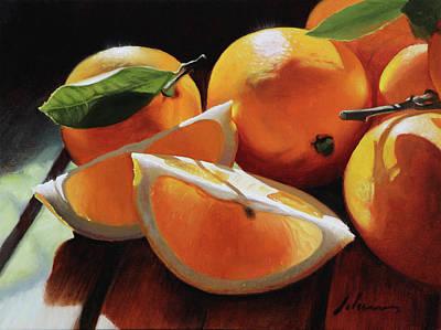 Meyer Lemons Art Print by Michael Lynn Adams