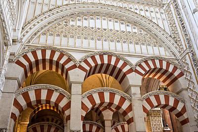 Mezquita Photograph - Mezquita Cathedral Architectural Details by Artur Bogacki
