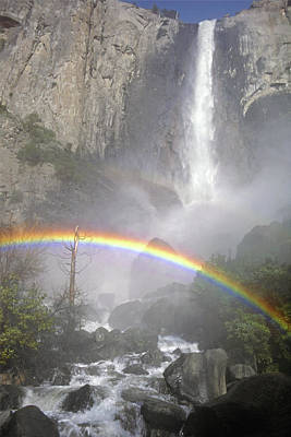 Photograph - Mff-174 Bridalveil Fall And Rainbow by Ed Cooper Photography