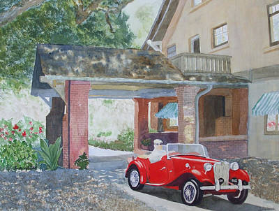 Mg At Marston House Art Print by Ally Benbrook