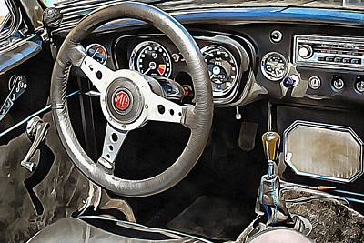 Photograph - Mgb Glance At Interior by Dorothy Berry-Lound