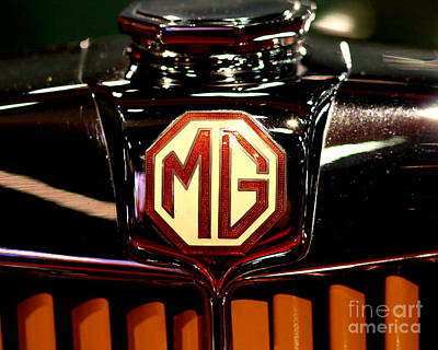Photograph - Mg Badge by Wingsdomain Art and Photography