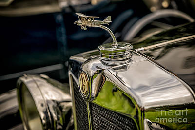 Chrome Grill Photograph - Mg Biplane Mascot by Adrian Evans
