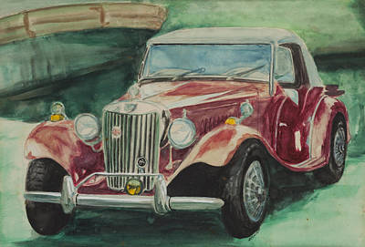 Painting - MG  by Bryan Bustard