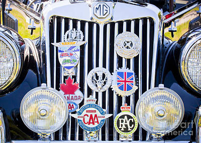 Photograph - Mg Grille And Club Badges by Chris Dutton
