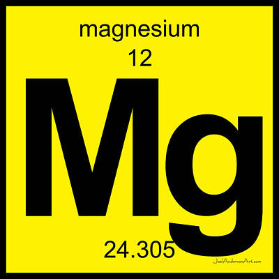 Digital Art - Mg Magnesium - Periodic Table Of Elements by Joel Anderson Art