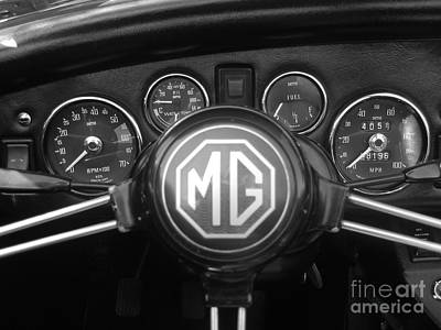 Mg Midget Dashboard Art Print