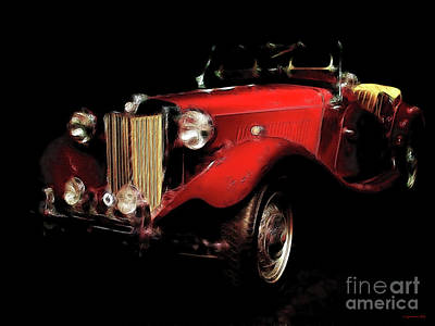 Automotive Art Series Wall Art - Photograph - Mg Midget Roadster by Wingsdomain Art and Photography
